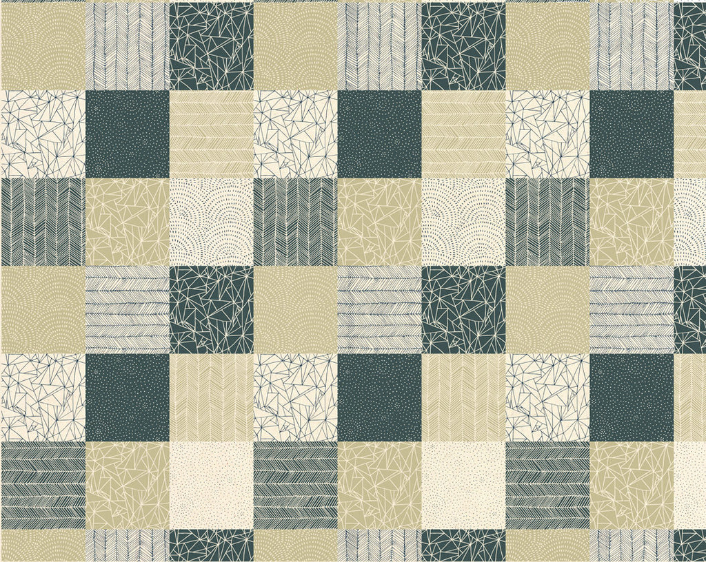 Patchwork Natural Fabric from Catnip Collection at Cherry Creek Fabric