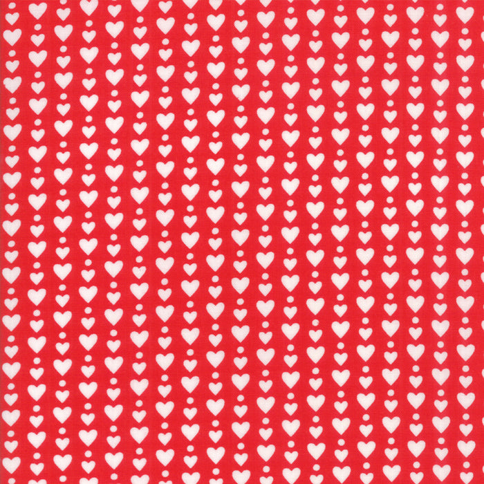 Red Heart Dots Fabric </br>END OF BOLT </br>3 yds + 8""