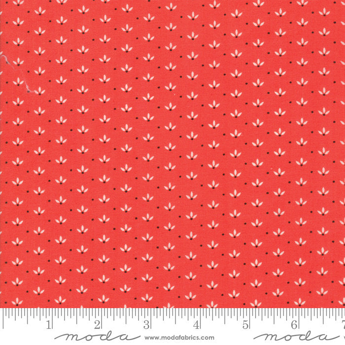 Red Dandelion Fabric from Farmhouse II Collection at Cherry Creek Fabric
