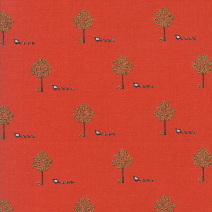 Red Maple Trees Fabric