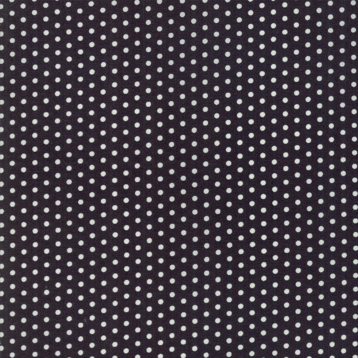 Black Polka Dots Fabric