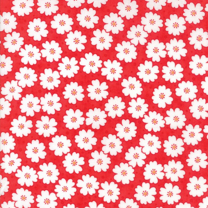 Red Cherry Blooms Fabric from Badda Bing Collection at Cherry Creek Fabric