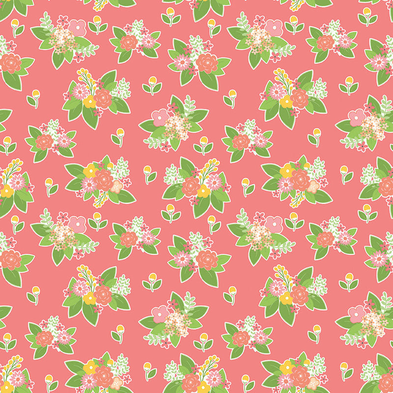 Pink Adventure Floral Fabric from Vintage Adventure Collection at Cherry Creek Fabric