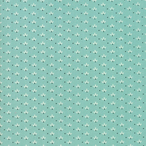 Farmhouse II by Fig Tree & Co | Aqua Dandelion Fabric from Farmhouse II Collection at Cherry Creek Fabric
