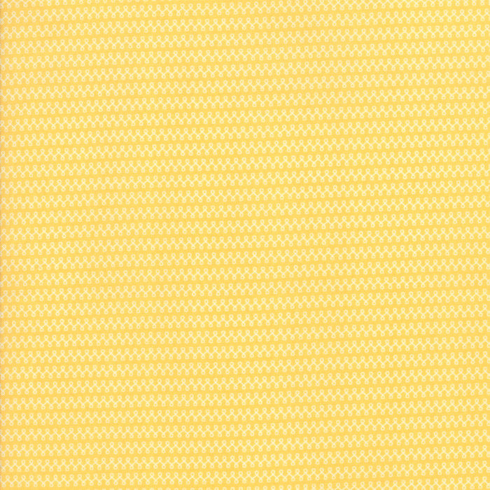 Yellow Loops Fabric - 1/2 yard