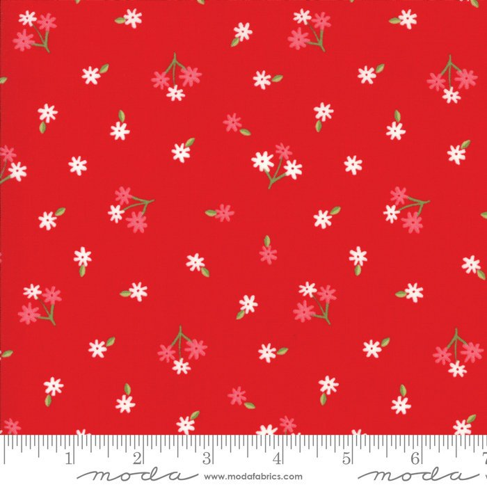 Red Tiny Bud Fabric