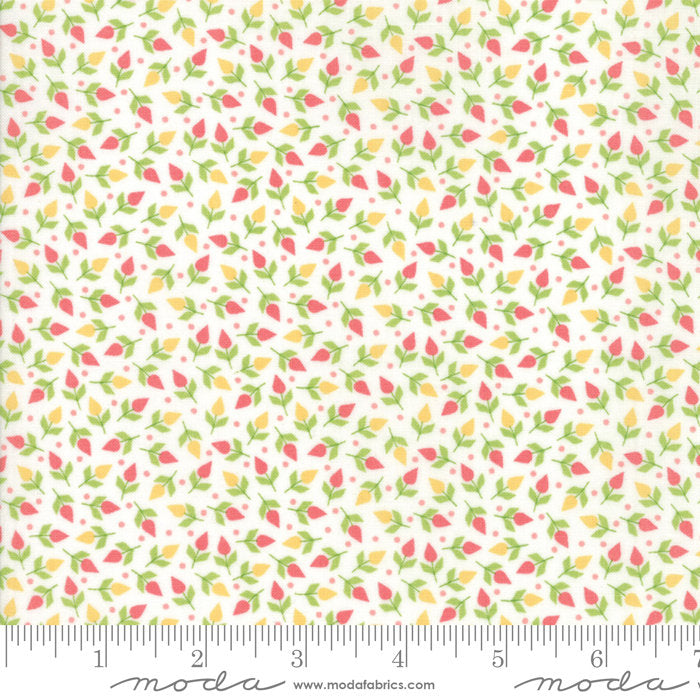 White Tiny Buds Fabric from Sunnyside Up Collection at Cherry Creek Fabric