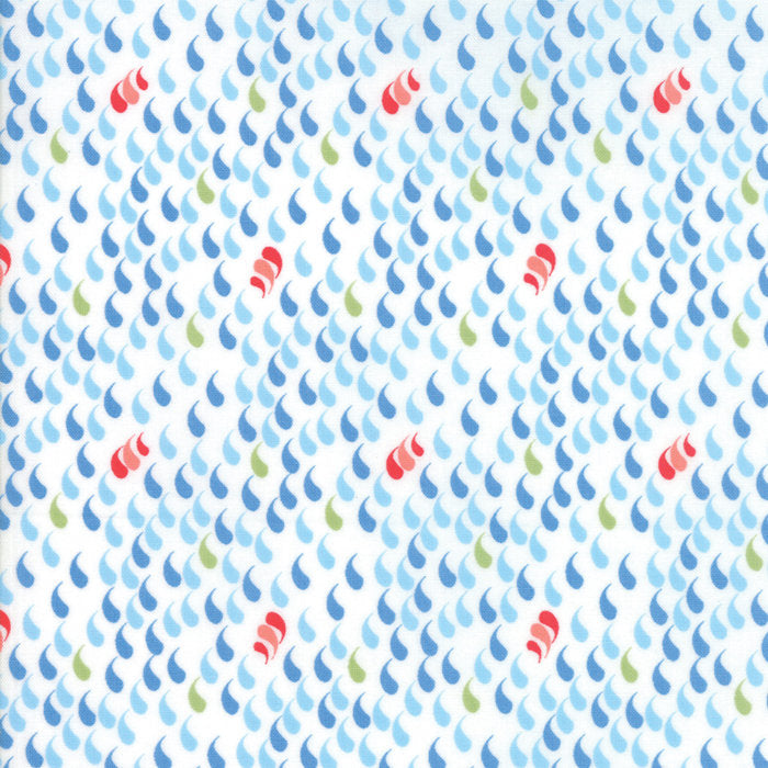 White Raindrops Fabric from Coledale Collection at Cherry Creek Fabric