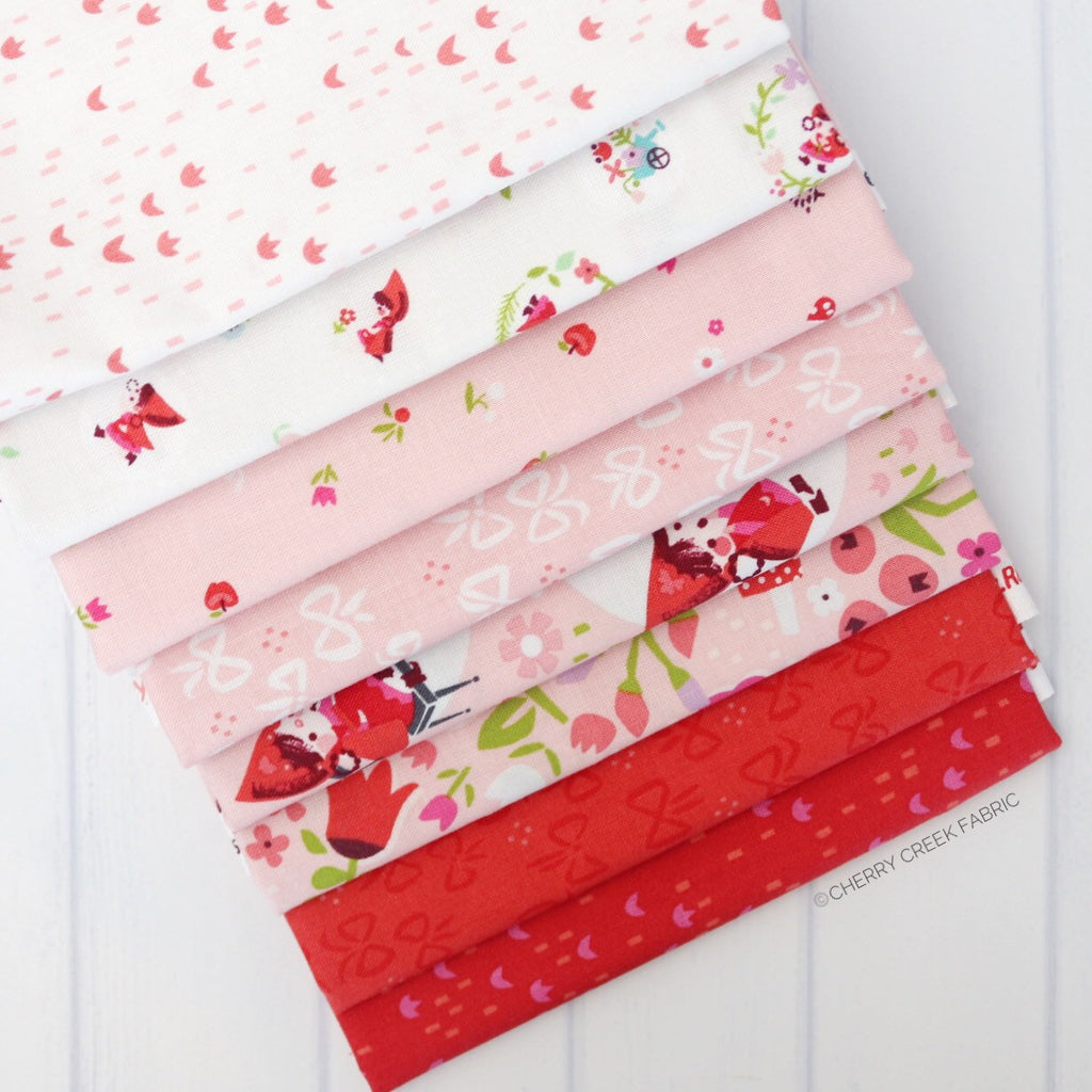 Little Red in the Woods Red/Pink Half Yard Bundle - 8 pieces