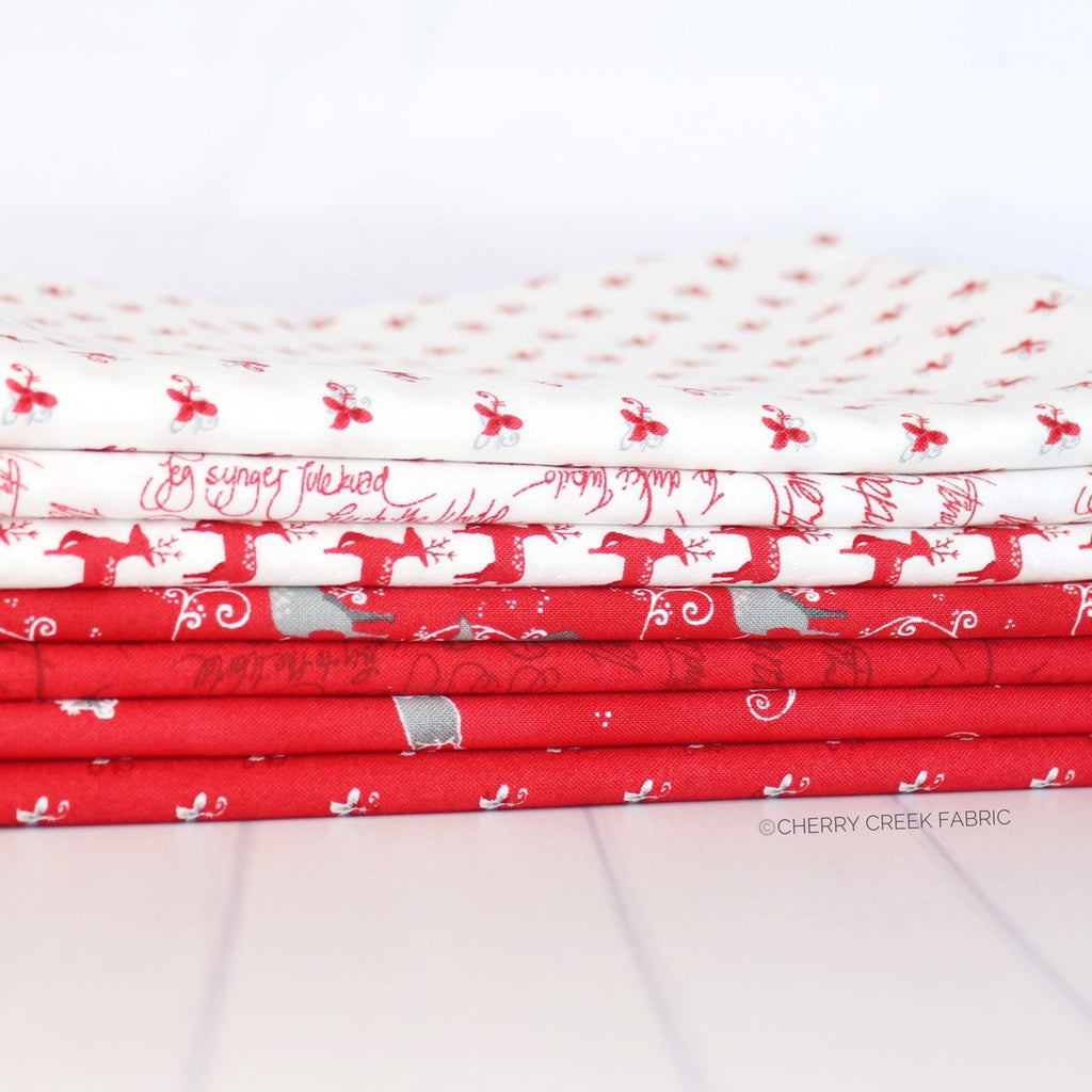 Sno Red One Yard Bundle from Sno Collection at Cherry Creek Fabric