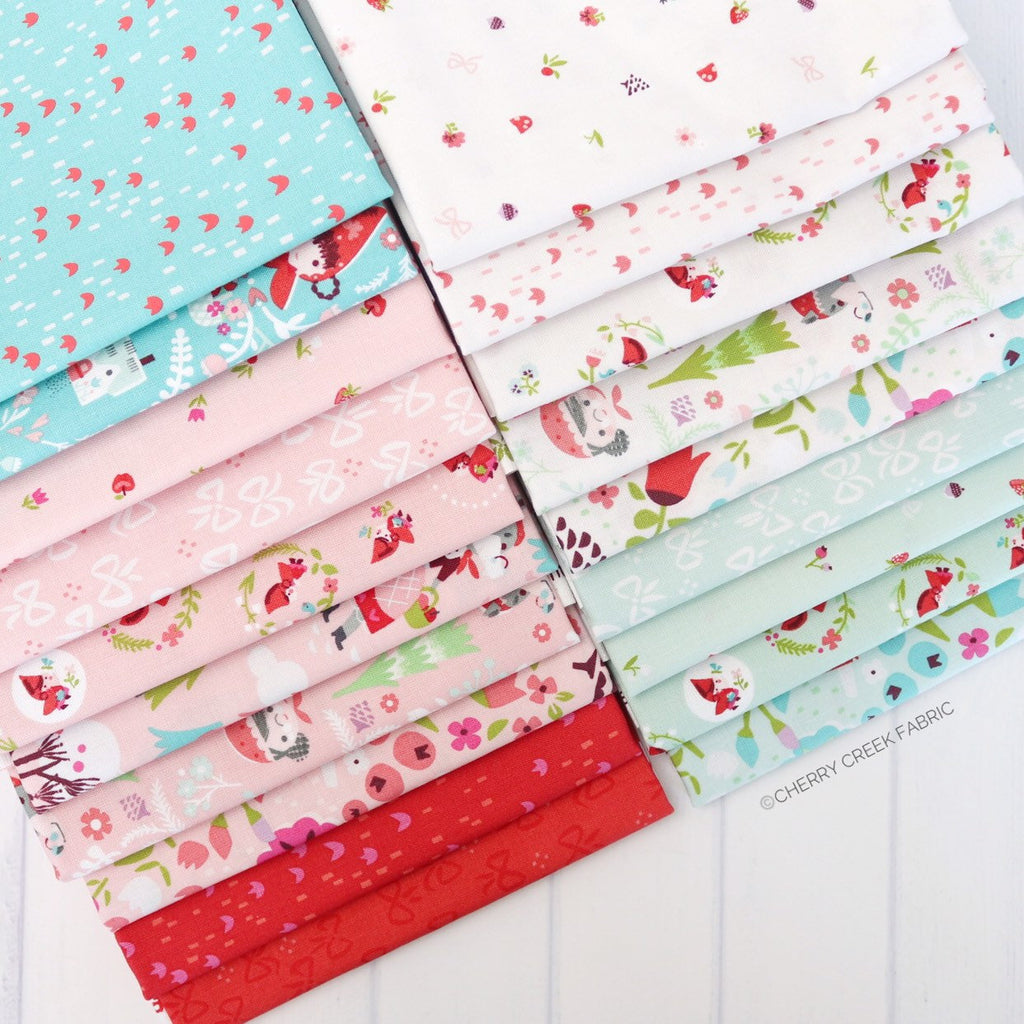 Little Red in the Woods Half Yard Bundle - 19 pieces from Little Red in the Woods Collection at Cherry Creek Fabric