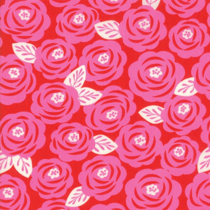 Red Roses Fabric from Lazy Days Collection at Cherry Creek Fabric