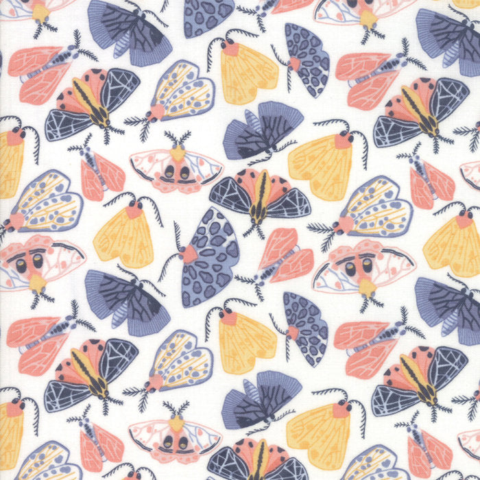 Cloud Moths Fabric</br>END OF BOLT </br>2 yds + 22""