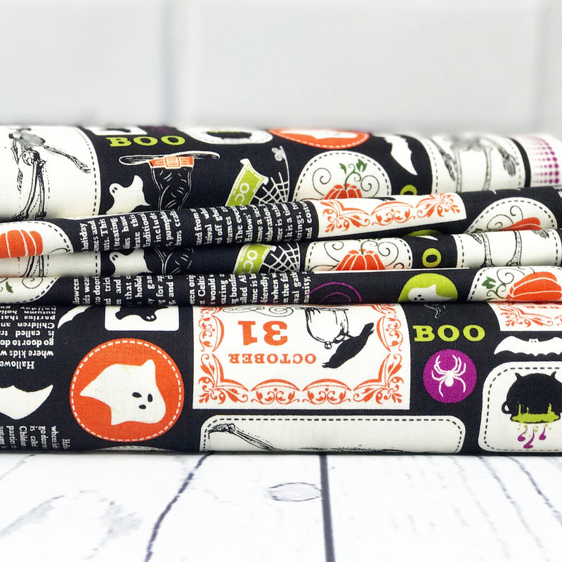 Black Halloween Fabric from Eek Boo Shriek Collection at Cherry Creek Fabric