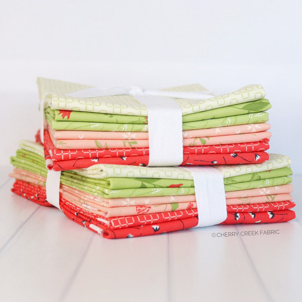 The Front Porch Red & Green Half Yard Bundle