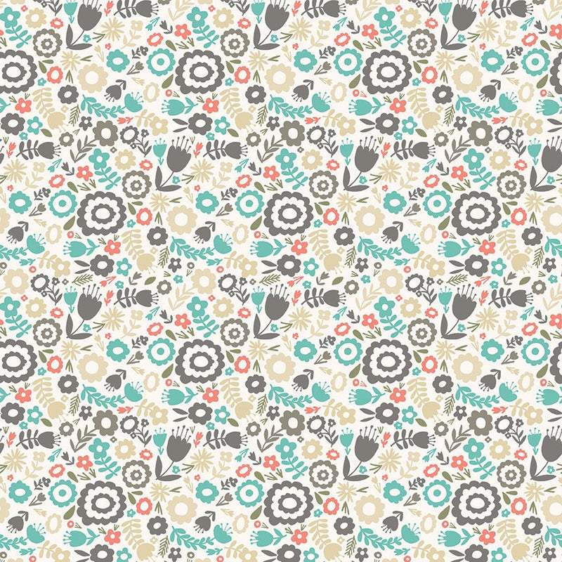 Cream Floral Fabric from Heart & Soul Collection at Cherry Creek Fabric