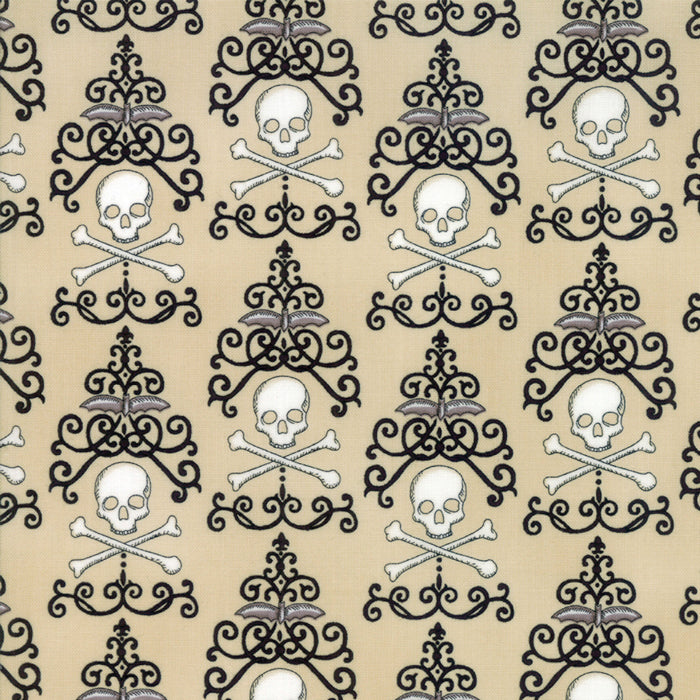 Tan Danger Damask Fabric from Bewitching Collection at Cherry Creek Fabric