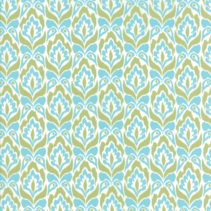 Aqua Lime Tapestry Fabric from Bungalow Collection at Cherry Creek Fabric