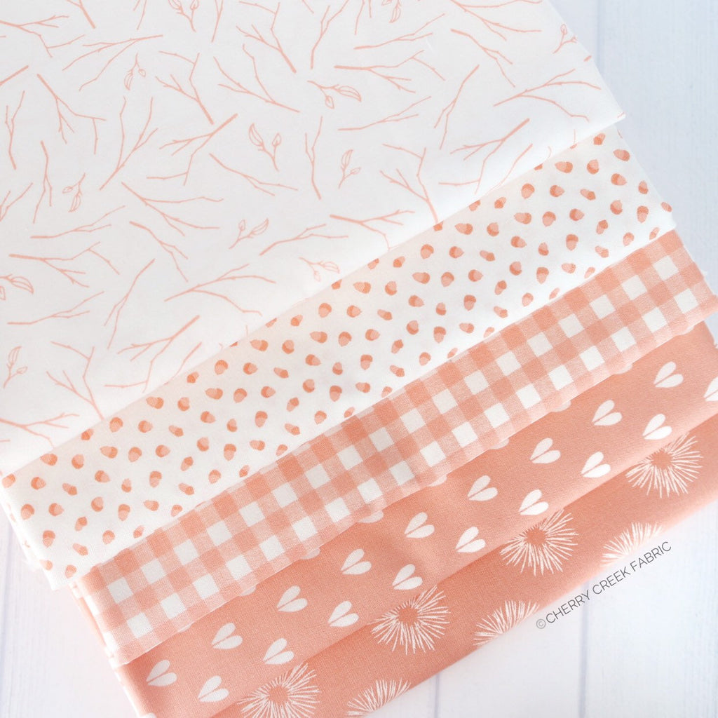 Woodland Secrets Peach One Yard Bundle from Woodland Secrets Collection at Cherry Creek Fabric