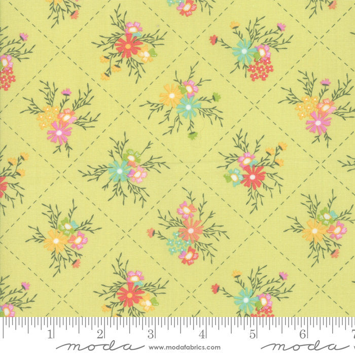 Green Floral Dandy Fabric from Sunnyside Up Collection at Cherry Creek Fabric
