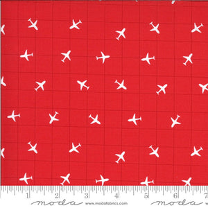 Red Airplane Fabric | On the Go from On the Go Collection at Cherry Creek Fabric