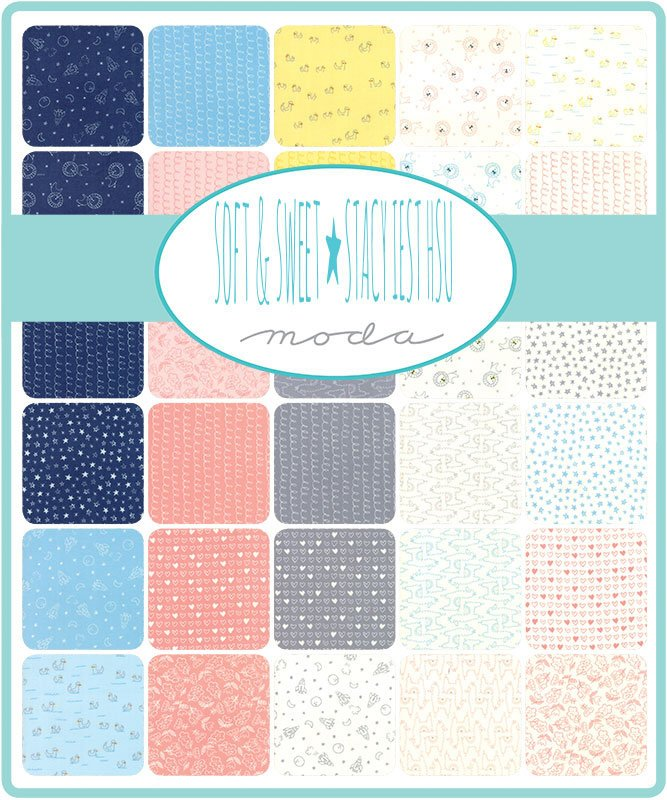 Soft & Sweet Flannel Blue Layer Cake from Soft & Sweet Flannel Collection at Cherry Creek Fabric