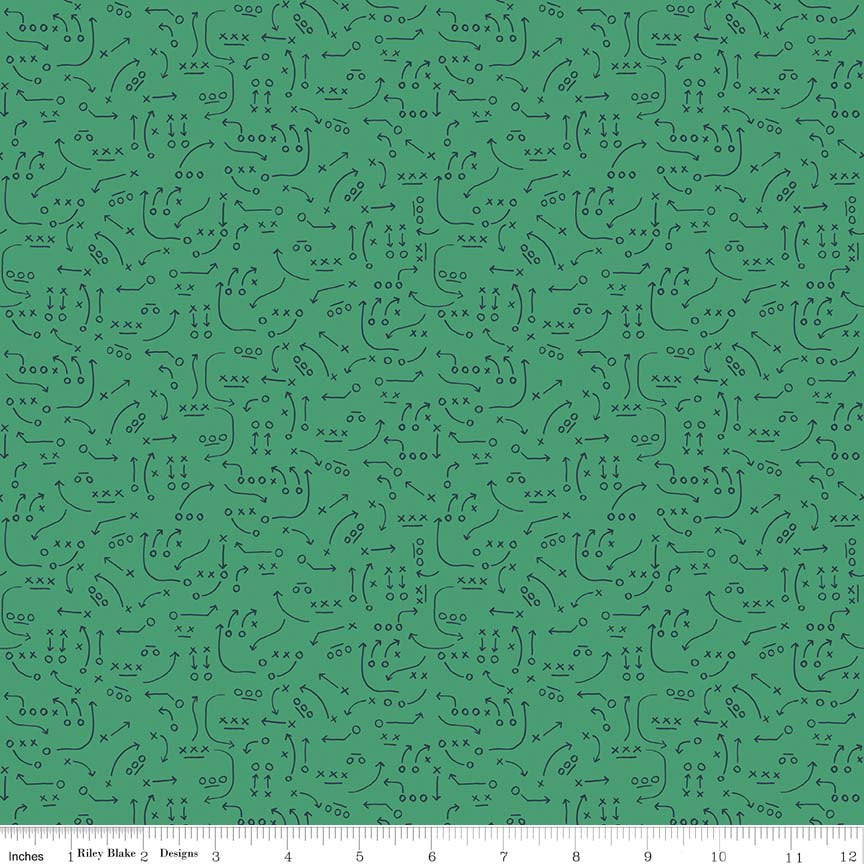 Green Playbook Fabric