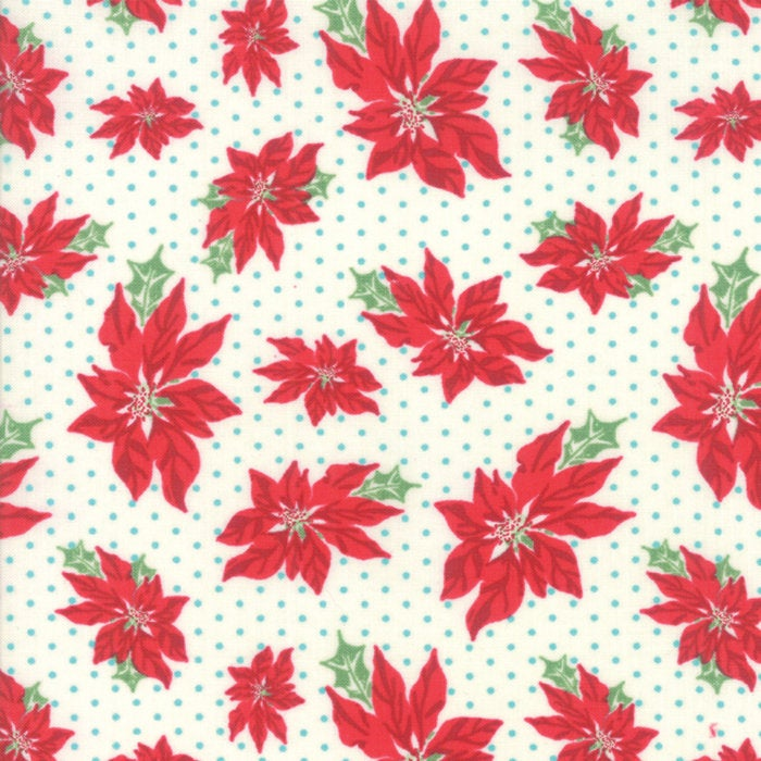 Sweet Christmas by Urban Chiks | Natural Poinsettia Fabric