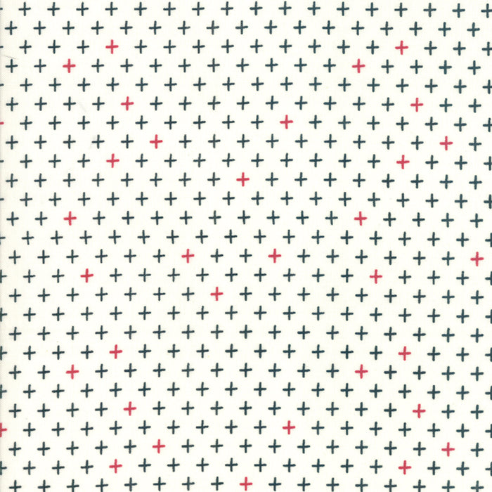 Merry Starts Here by Sweetwater | Cream & Black Twinkle Star Fabric