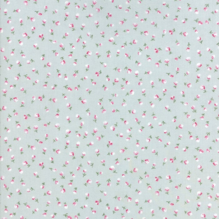 Light Blue Flower Fabric