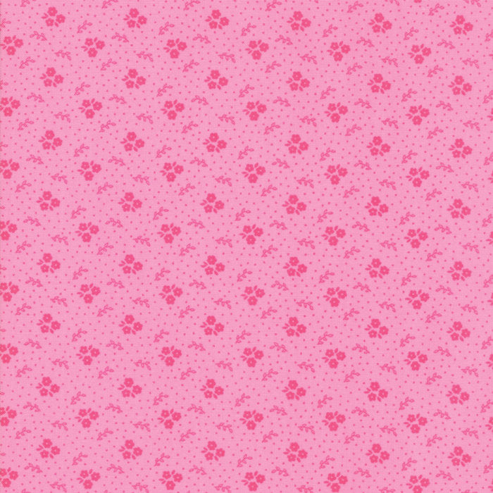 Pink Trio Blooms Fabric