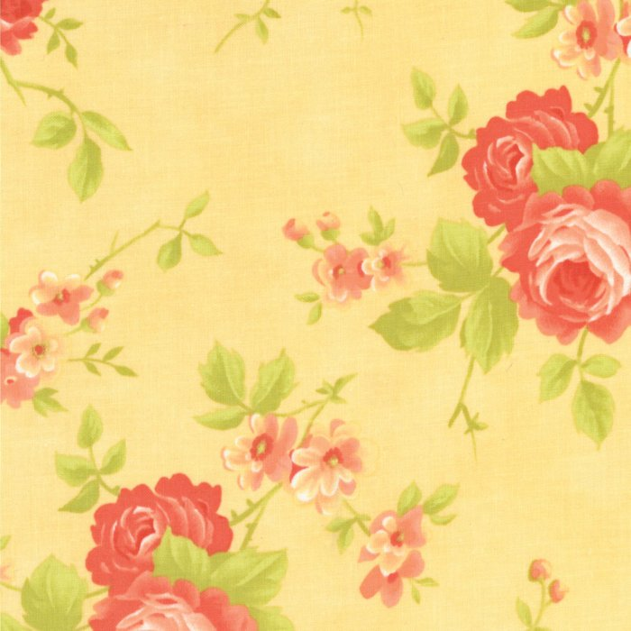 Chantilly by Fig Tree & Co | Yellow Rose Fabric from Chantilly Collection at Cherry Creek Fabric