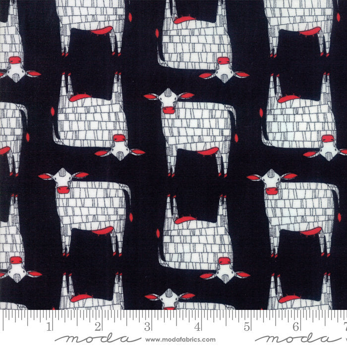 Black Moo Cow Fabric from Farm Fresh Collection at Cherry Creek Fabric