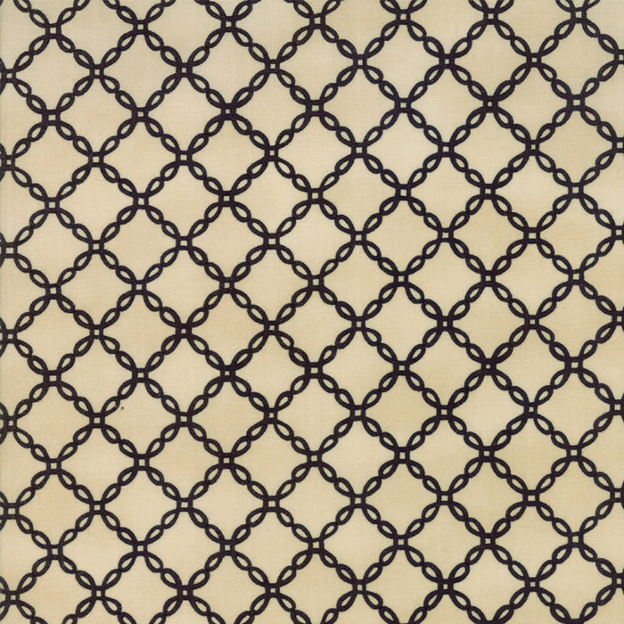 Tan Halloween Lattice Fabric
