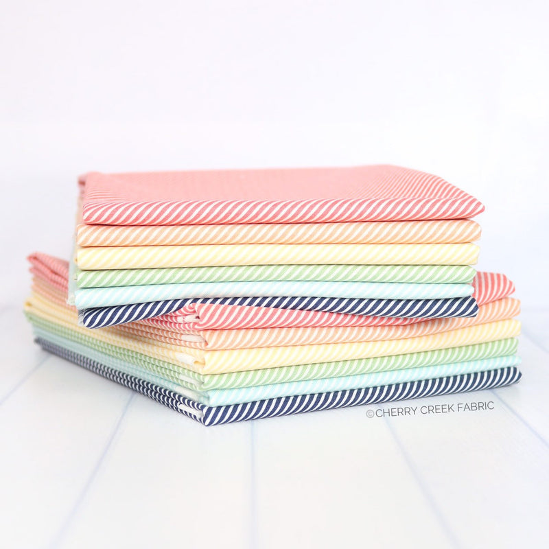 Garden Variety Rainbow Stripe Half Yard Bundle - 6 pieces