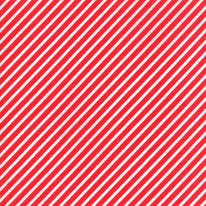 Red Candy Stripe Flannel Fabric