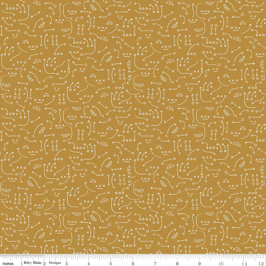 Gold Playbook Fabric