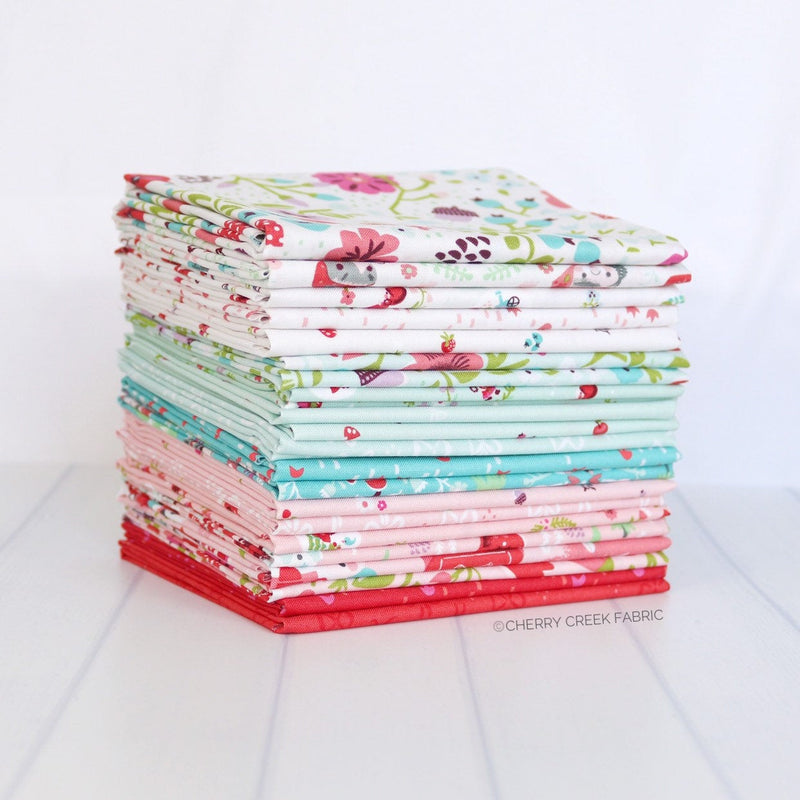 Little Red in the Woods Mini Fat Quarter Bundle - 19 pieces