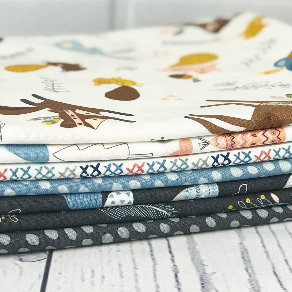 Wild & Free Black One Yard Bundle from Wild & Free Collection at Cherry Creek Fabric