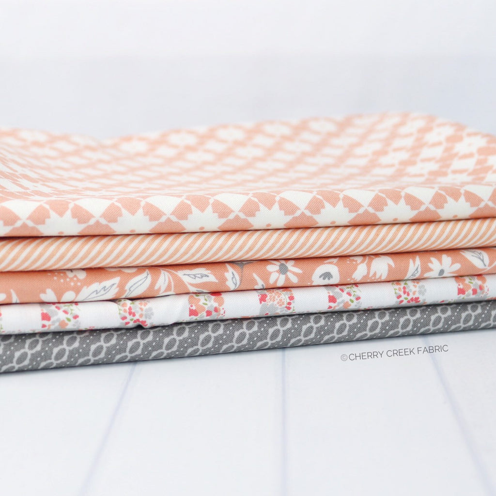 Sherbert One Yard Bundle - 5 pieces from Cherry Creek Fabrics Collection at Cherry Creek Fabric