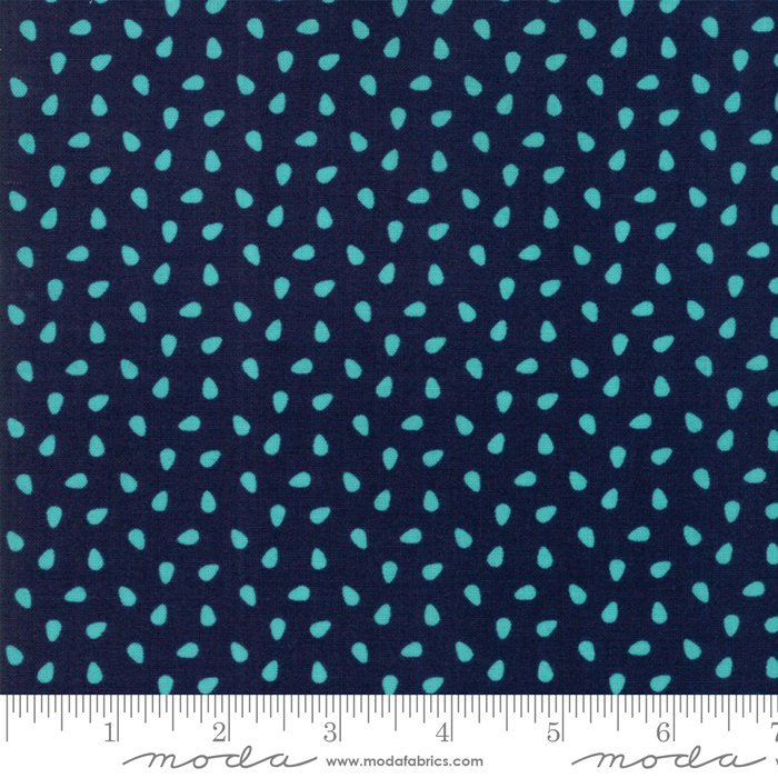 Navy Seeds Fabric from All Weather Friend Collection at Cherry Creek Fabric