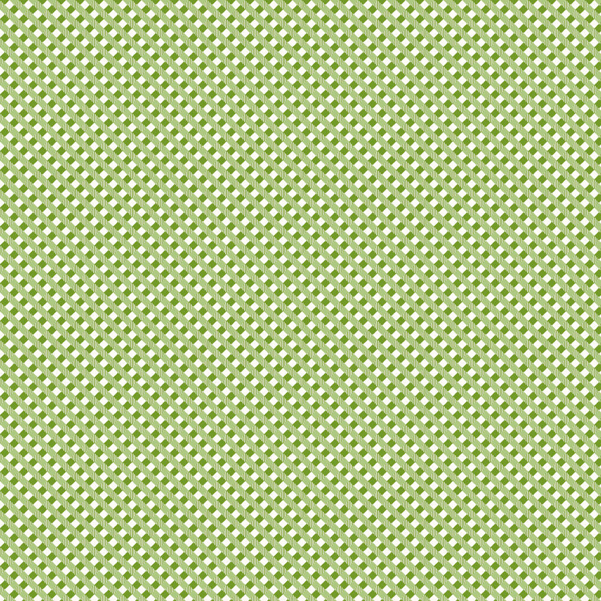 Green Gingham Fabric