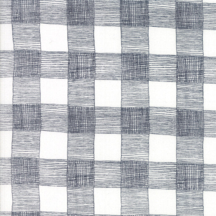 Grey Rustic Gingham Fabric