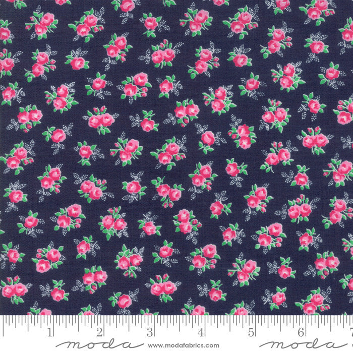 Navy Sweet Floral Fabric from Guest Room Collection at Cherry Creek Fabric