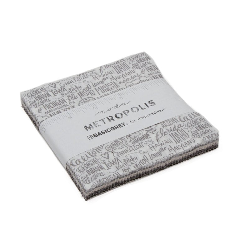 Metropolis Charm Pack from Metropolis Collection at Cherry Creek Fabric