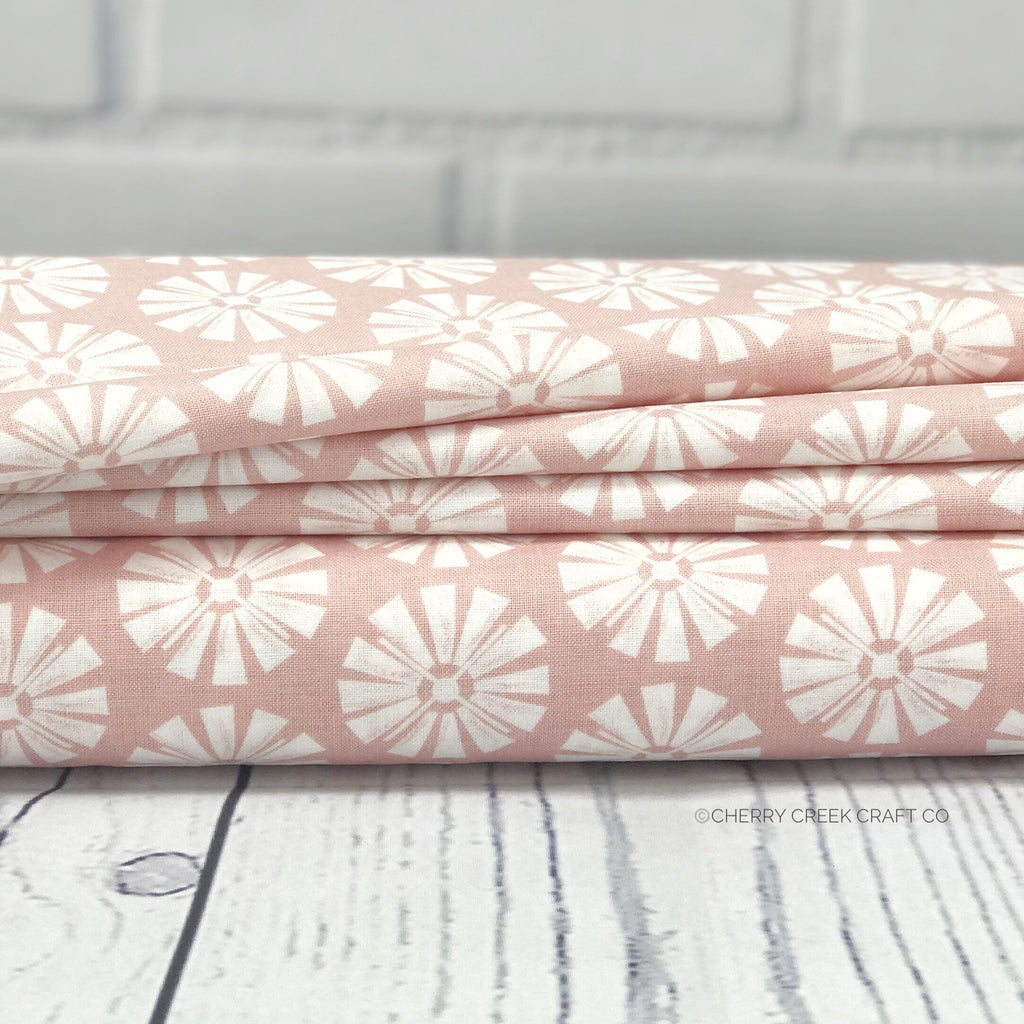 Pink Windmill Fabric from Grandale Collection at Cherry Creek Fabric