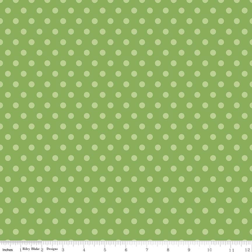 Green Dots Fabric from Harry & Alice Collection at Cherry Creek Fabric