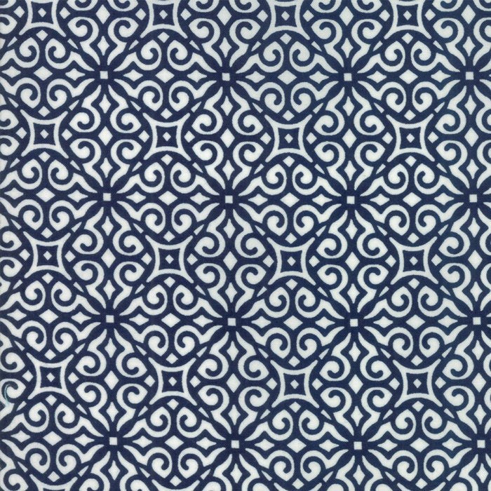 Navy Geometric Fabric