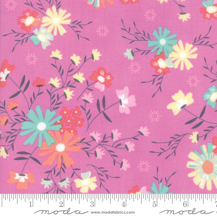 Pink Sugar Creek Floral Fabric from Sunnyside Up Collection at Cherry Creek Fabric