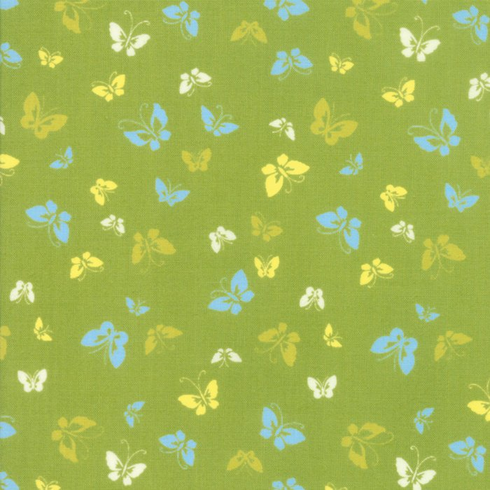 Green Butterflies Fabric